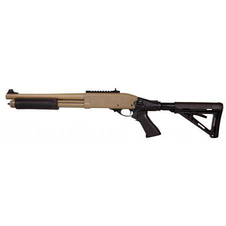 Fusil à Pompe Shotgun Secutor Velites G-III M870 CQB Gaz Tan - SAV0006