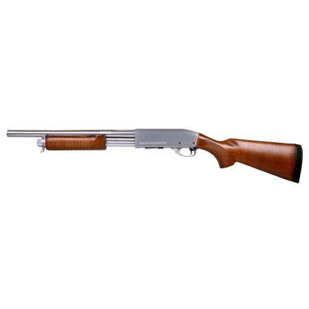Fusil à Pompe Spring S&T ST870 Police Magnum Silver - Métal & Bois - ST-SPG-07-S