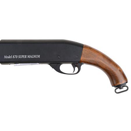 Fusil à Pompe Spring S&T ST870 ST87 Canon Court Saw Off - Métal & Bois - ST-SPG-08
