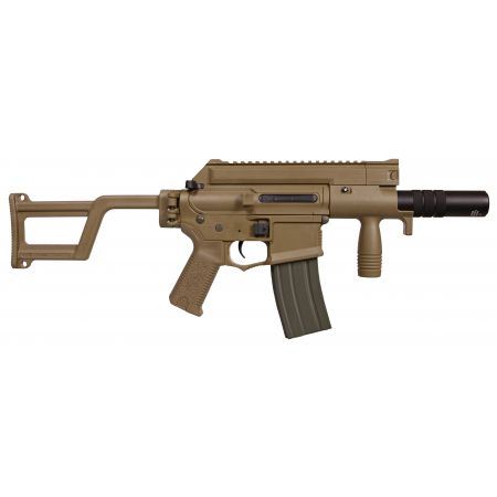 Fusil Amoeba M4 CCC-S CQB AEG + Silencieux ARES Tan - AM-006-DE