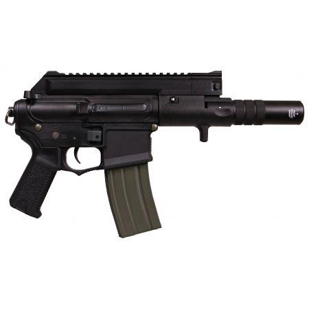 Fusil Amoeba M4 CCP-S CQB AEG + Silencieux ARES Noir - AM-004-BK