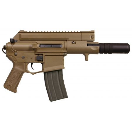 Fusil Amoeba M4 CCP-S CQB AEG + Silencieux ARES Tan - AM-004-DE