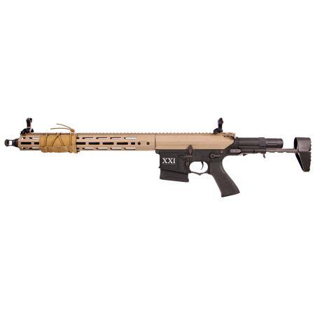 Fusil DMR Legion Rapax XXI M2 AEG Secutor - Tan & Noir