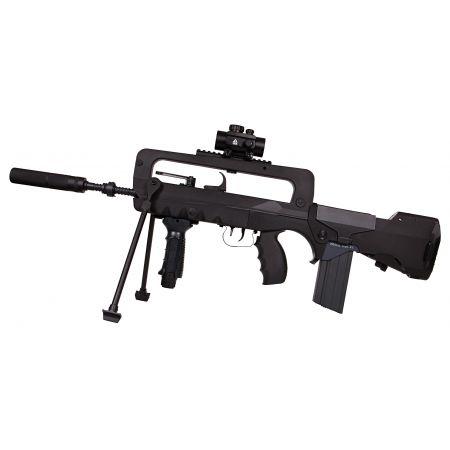 Fusil FAMAS F1 Nylon Fibre & Metal AEG (400907) + Bipied + Red Dot + Silencieux + 2 Chargeurs + Sachet 4000 Billes 0.25g