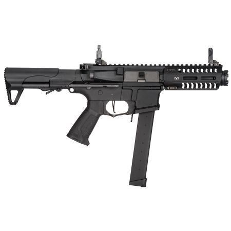Fusil G&G CM16 UMP ARP9 CQB AEG (Mosfet & ETU) PDW Guay Guay - Noir