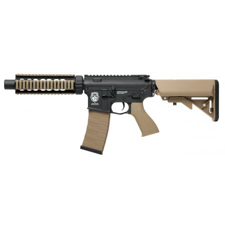 Fusil G&G M4 GR4 CQB-S Mini AEG Blowback Metal & Nylon - Noir & Tan