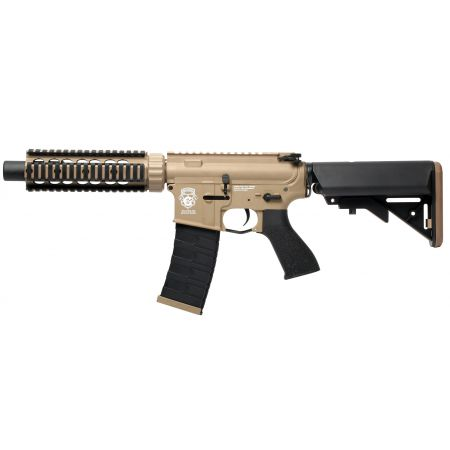 Fusil G&G M4 GR4 CQB-S Mini DST AEG Blowback Metal & Nylon - Tan & Noir