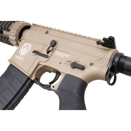 Fusil G&G M4 GR4 CQB-S Mini DST AEG Blowback Metal & Nylon - Tan & Noir