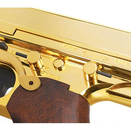 Fusil King Arms Thompson M1928 M1A1 M1 A1 Military Full Metal & Bois - Gold - KA-AG-66-GD