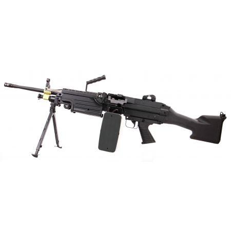 Fusil LMG Light Machine Gun M249 MKII Long AEG Full Metal A&K - Noir