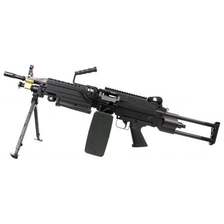 Fusil LMG Light Machine Gun M249 Para Court AEG Full Metal A&K - Noir