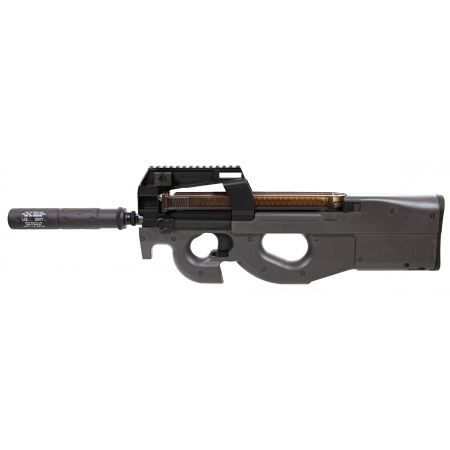 Fusil P90 TR AEG Noir avec Silencieux - Tokyo Marui