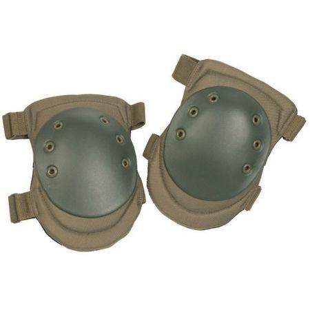 Genouilleres Protege Genoux SWAT - Coque Rigide - Airsoft - Olive Vert - Miltec 16231001