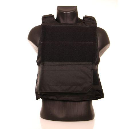 Gilet Pare-balles Veste Tactique Porte Plaque Swiss Arms - Noir