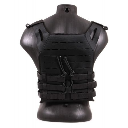 Gilet Tactique JPC Plate Carrier V18 Laser Cut Delta Tactics - Noir