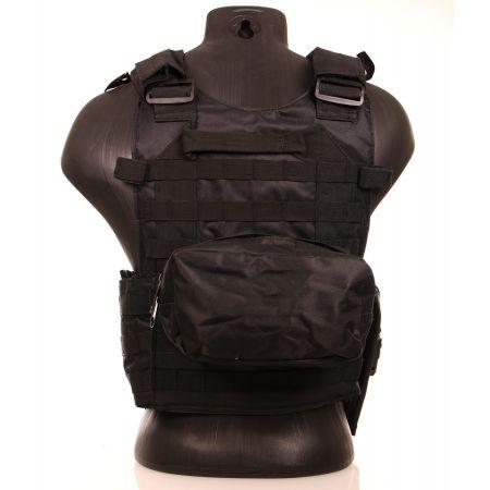 GIlet Veste Tactique CRS Multipoche Swiss Arms - Noir