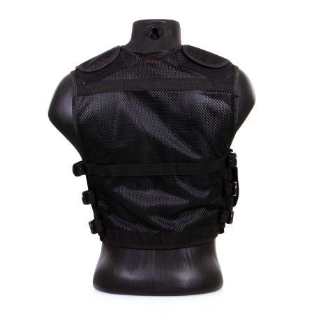 Gilet Veste Tactique Recon Multi Poche avec Holster - Noir - 911302