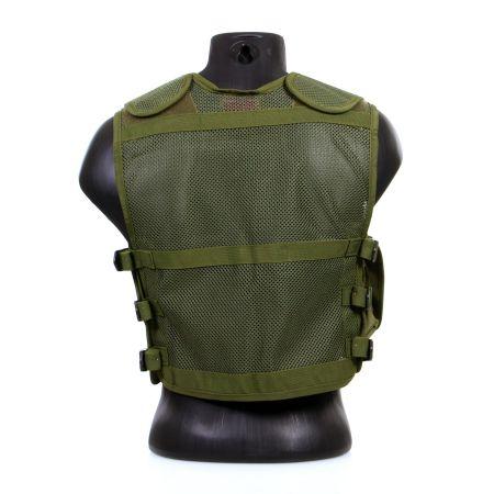 Gilet Veste Tactique Recon Multi Poche avec Holster - Olive - 911303