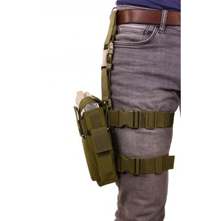 Holster De Cuisse Droitier Cordura Molle Swiss Arms Olive – 604204