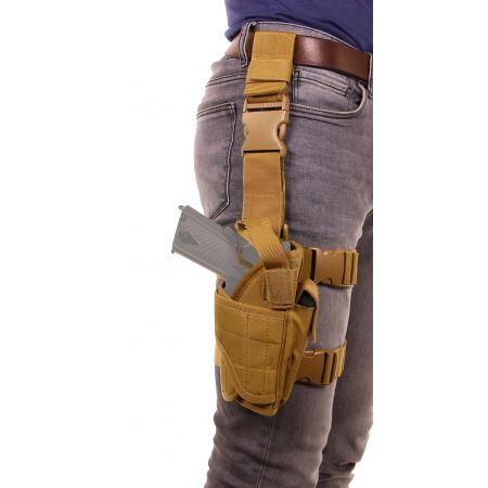 Holster De Cuisse Droitier Cordura Molle Swiss Arms Tan – 604205