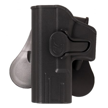Holster Rigide Polymere Noir Gaucher Type G Glock 17 / 18 / 22 / 31 - Rotatif - 18214