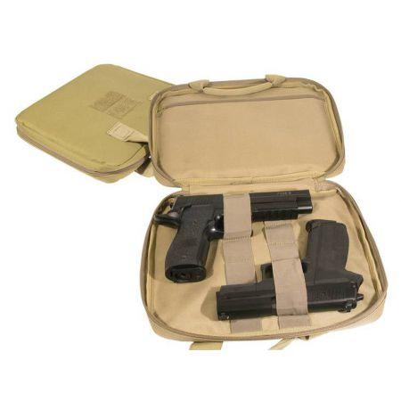 Housse De Protection Repliques de Poing (2 Pistolets) Swiss Arms Tan Beige 26x32cm - 604055