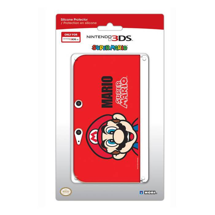 Housse protection silicone rouge mario console nintendo for Housse 3ds xl pokemon