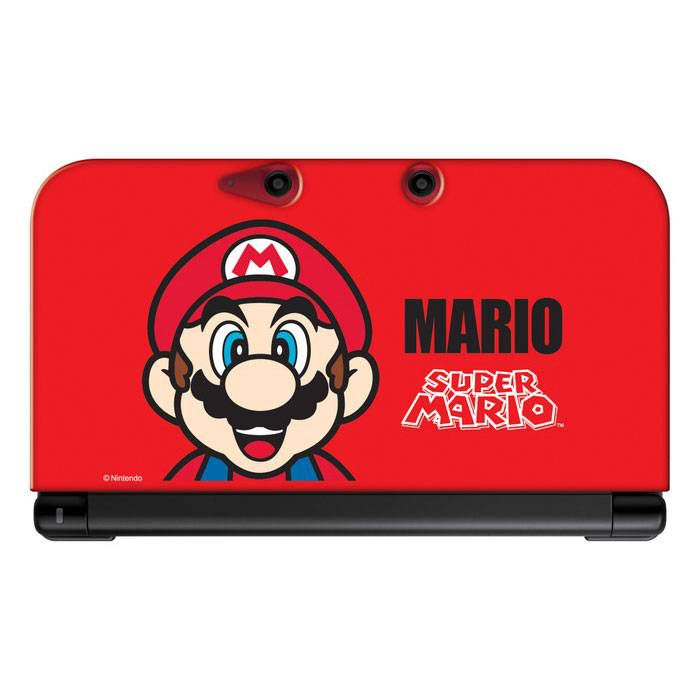 Housse protection silicone rouge mario console nintendo for Housse nintendo 2ds xl