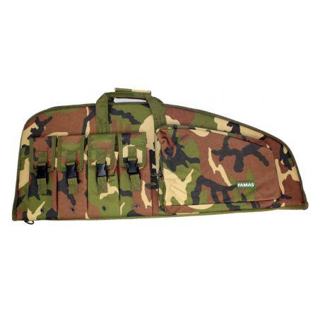 Housse Protection Transport Camo Camouflage Woodland Famas - 85x36cm - 604069