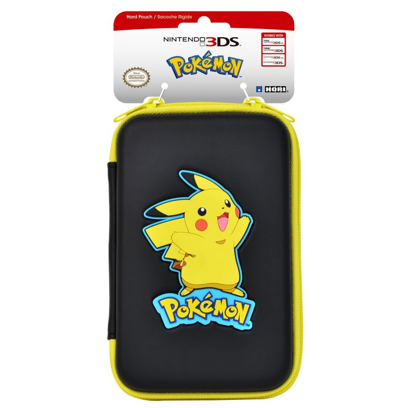 Housse sacoche rigide pokemon pikachu nintendo new 3ds xl for Housse 3ds xl