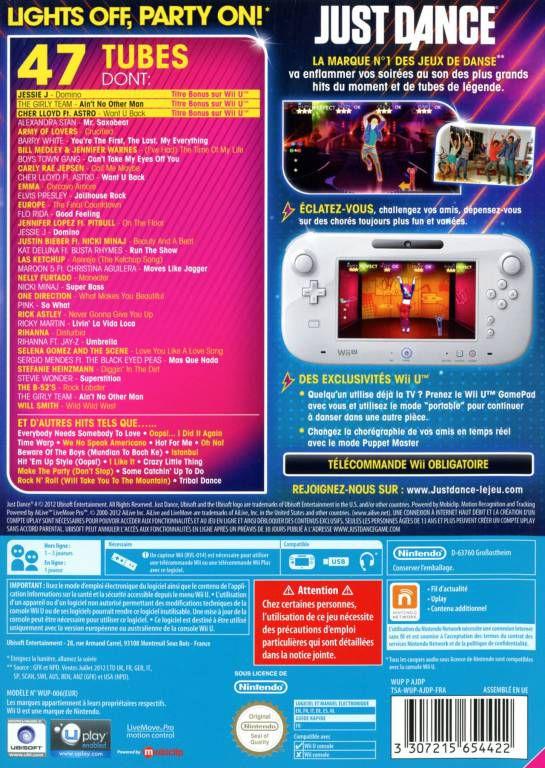 Jeu Nintendo Wii U - Just Dance 4 - Jeux Video » Wii U » Jeux Video