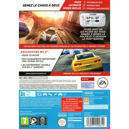Jeu Nintendo Wii U - Need For Speed : NFS Most Wanted U