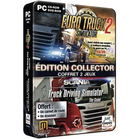 Jeu Pc - Euro Truck 2 Simulator Edition Collector + Scania Truck Driving