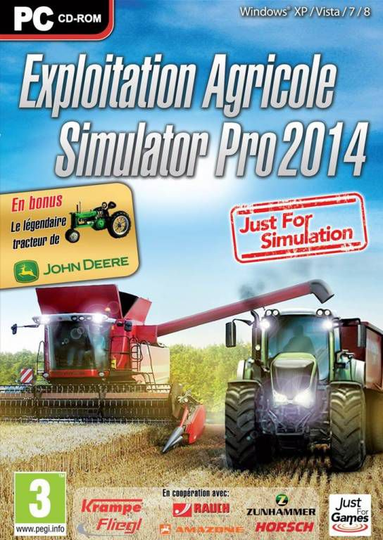 jeu pc exploitation agricole simulator pro 2014 jeux video pc. Black Bedroom Furniture Sets. Home Design Ideas