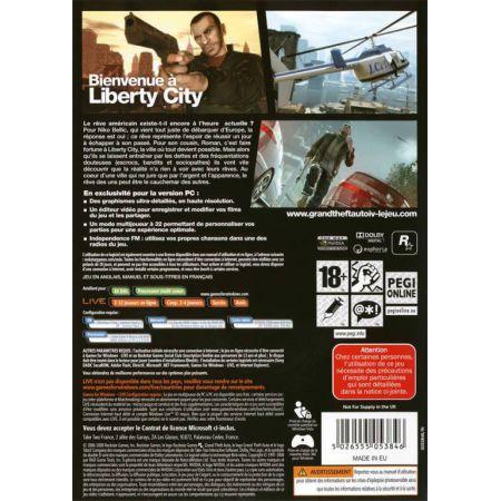 Jeu Pc - GTA 4 : Grand Theft Auto IV