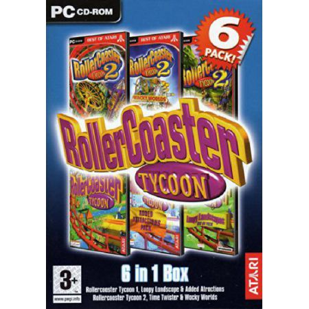 Jeu Pc - Pack 6 jeux Roller Coaster Tycoon 1 + 2 + Extension - JPC9183