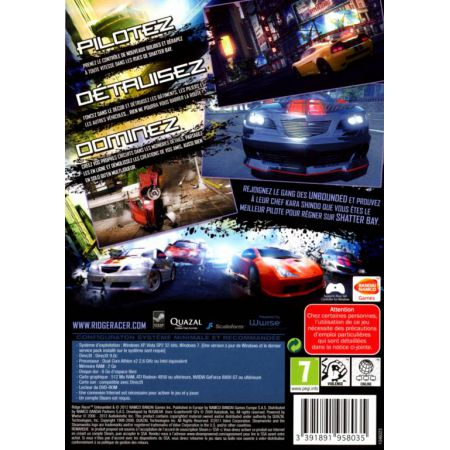 Jeu Pc - Ridge Racer Unbounded Limited Edition