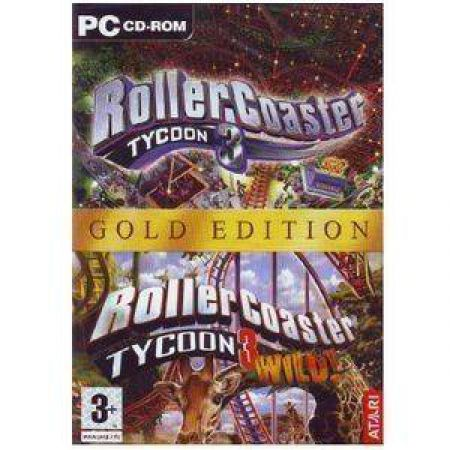 JEU PC ROLLERCOASTER TYCOON 3 GOLD +TYCOON 3 WILD