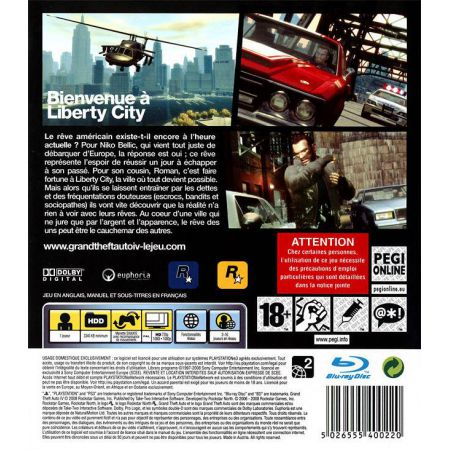 Jeu Ps3 - Grand Theft Auto 4 : GTA IV