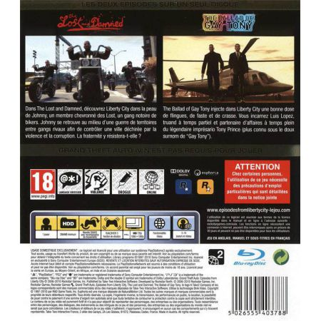 Jeu Ps3 - GTA 4 : Episodes Of Liberty City