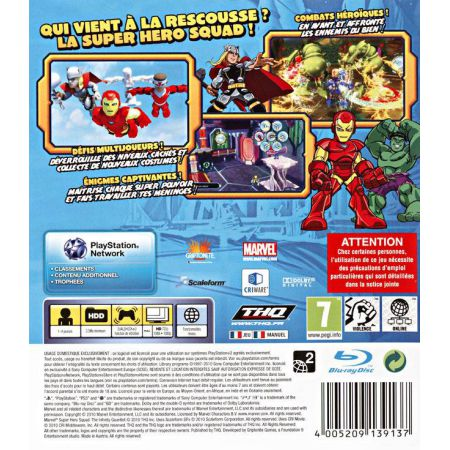 Jeu Ps3 - Marvel Super Hero Squad Le Gant De L'Infini