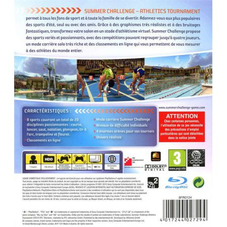 Jeu Ps3 - Summer Challenge Athletics Tournament
