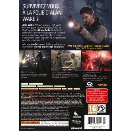 Jeu Xbox 360 - Alan Wake