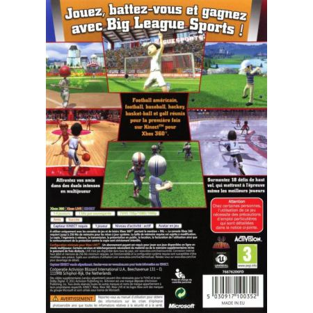 Jeu Xbox 360 - Big League Sports Kinect