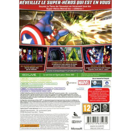 Jeu Xbox 360 - Marvel The Avengers : Battle For Earth