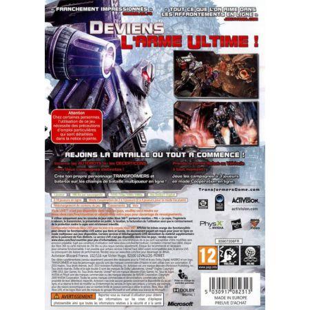 Jeu Xbox 360 - Transformers La Guerre Pour Cybertron