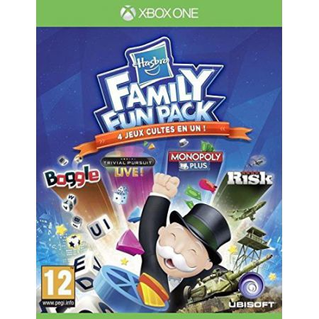 Jeu Xbox One - Hasbro Family Fun Pack (Boggle, Trivial Pursuit, Monopoly & Risk)