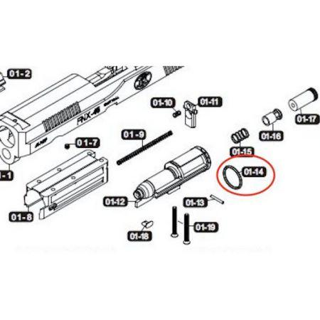 Joint Torique O Ring Nozzle Cybergun VFC FNX45 (FNX-45)