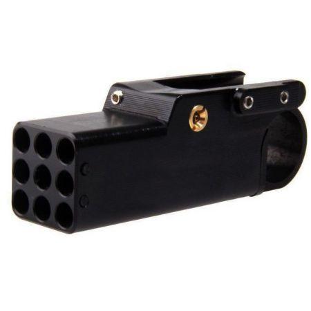 Lanceur Mini Launcher Noir Zoxna Gaz 40 Billes - Lance Grenade ZOX011