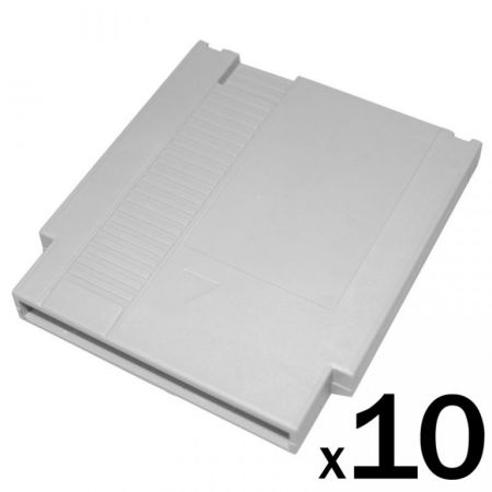 Lot 10 Boitiers Cartouches cartridge Vierge Jeu Nintendo Nes - Remplacement Reparation